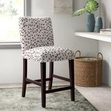 """Ebern Designs Gandy 26"""" Counter Stool Wood/Upholstered in Black/Brown, Size 40.0 H x 19.0 W x 24.0 D in   Wayfair 2A7CAED3C63C4DCEB8D5D6D6DC35CDB2"""