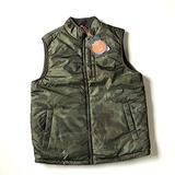 Weatherproof Vintage Men's Reversible Vest (M, Olive Camo)