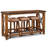 Sunset Trading Rustic City Counter Dining Set, Natural Oak