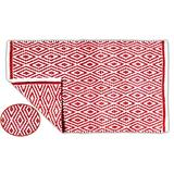 100% Cotton Diamond Rug 21x34 Hand Woven Reversible Washable Rug - Red,Farmhouse Bathroom Rugs,Entry Rugs,Rugs for Living Room,Rag Rug,Kitchen Rug Cotton,Machine Washable Rug,Woven Rug