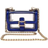 Clear Boxy Shoulder Bag Chain Strap Crossbody Purse - Stadium/Concert Venues Approved