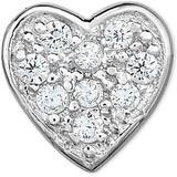 Diamond Accent Heart Single Stud Earring In 14k White Gold - White - Macy's Earrings
