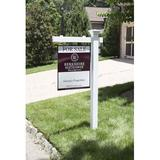 4Ever Products Mason Real Estate Sign Holder Post Plastic in White, Size 60.0 H x 6.0 W x 36.0 D in   Wayfair Mason_REP_536