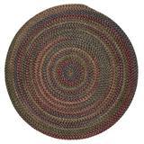 Winston Porter Mclaughlin Geometric Braided Dark Burgundy/Green/Blue Area Rug Polypropylene/Wool in Blue/Green/Red, Size 72.0 H x 72.0 W x 0.5 D in