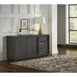 Orren Ellis Corpuz Wooden SideboardWood/Metal in Brown/Gray, Size 32.0 H x 66.0 W x 18.0 D in | Wayfair 1A7AA8A8CBCE4E70BFBAD95859CFCE90