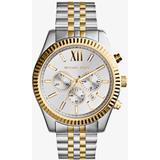 Lexington Two Tone Stainless Steel Men's Chrono Watch - Metallic - Michael Kors Watches