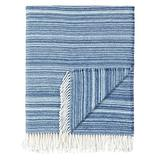 Eastern Accents Alvin Striped Blanket Acrylic/Cotton blend in Blue, Size 70.0 H x 55.0 W in | Wayfair EC-THO-02