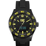 CAT C-Smart Black Yellow Dial 44mm Black Silicone Strap Watch B116521127