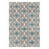World Rug Gallery Indoor Rugs Gray/Blue - Gray & Blue Moroccan Lattice Toscana Rug