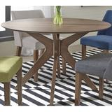 Ivy Bronx Kohut 5 Piece Dining Table SetWood/Upholstered Chairs in Brown/Orange, Size 29.0 H x 47.0 W x 47.0 D in | Wayfair
