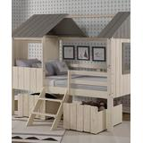 Donco Kids Beds RUSTIC - Rustic Sand Full Loft Bed & Drawer Set