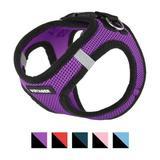 Best Pet Supplies Voyager Black Trim Mesh Dog Harness, Purple, X-Small