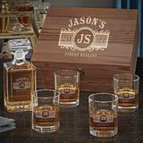 Charlton Home® Seo Personalized 5 Piece Whiskey Decanter Set Glass, Size 12.5 H x 11.0 W in | Wayfair 4FD2E69FEA8742C0803C8CA683BF5A6F