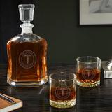 Charlton Home® Shevlin Medical Arts Personalized 3 Piece Whiskey Decanter Set Glass, Size 10.75 H x 5.0 W in | Wayfair