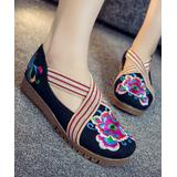 Embroidered Kicks Women's Mary Janes Black - Black Floral Embroidered Crisscross Mary Jane - Women