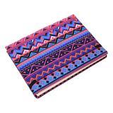 Cotton journal, 'Tribal Purple' (8 inch)