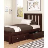 Donco Kids Beds DARK - Dark Brown Twin Bed & Drawer Set