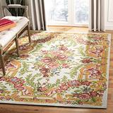 Safavieh Classic Vintage Collection CLV112A Oriental Floral Area Rug, 6' x 9', Ivory / Rose