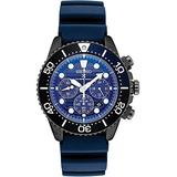 Seiko Prospex SSC701 Special Edition Blue Silicone Solar Powered Diver's Chronograph Watch