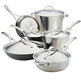 Anolon Nouvelle Copper Mixed Metals Cookware Set, 11-Piece | Wayfair 77701