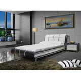 Latitude Run® Bovina Upholstered Platform Bed Upholstered/Faux leather in Black, Size King   Wayfair LTDR5257 44368635