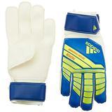 adidas Predator Top Training Finger Save Soccer Goalie Gloves, Football Blue/Bold Blue/Solar Yellow, Size 5 (unisex-child) Youth