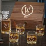 Darby Home Co Personalized 5 Piece Whiskey Decanter Set Glass in Brown, Size 14.0 H x 12.0 W in | Wayfair 2F6FD87DA7A54ACC8EA928ECB5342488