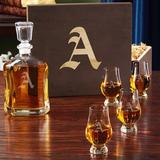 Charlton Home® Stamey Engraved 5 Piece Whiskey Decanter Set Glass in Brown, Size 16.0 H x 13.0 W in | Wayfair CDCB84BCF5CA4A6281F0914BD559F826