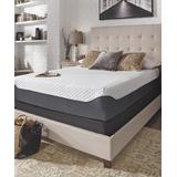 Ashley-Sleep Mattresses White/Blue - White 12'' Elite Memory Foam Mattress