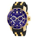 Invicta Men's Watches Gold - Blue Dial & Goldtone Pro Diver Chronograph Watch