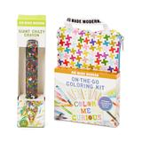 Kid Made Modern Craft Kits - On-The-Go Coloring Kit & Giant Crazy Crayon Set