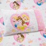 Disney Princess Castle Dreams 2 Piece Toddler Bedding SetCotton Blend in Blue/Pink/Yellow   Wayfair 1546716