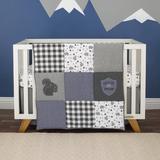 Isabelle & Max™ Breeden Mountain Patchwork Nursery 4 Piece Crib Bedding Set Cotton Blend in Blue/Gray/White, Size 36.0 W in   Wayfair
