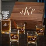 Darby Home Co Monogram Personalized 5 Piece Whiskey Decanter Set Glass in Brown, Size 13.0 H x 12.0 W in | Wayfair 9689629E455C4DCBB2828E7559F1EC93