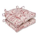 Winston Porter Alidge Holiday Reversible Indoor Dining Chair Cushion Cotton Blend in Red, Size 4.0 H x 16.0 W x 15.5 D in   Wayfair