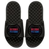 Detroit Pistons ISlide Youth Tonal Pop Slide Sandals - Black