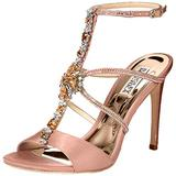 Badgley Mischka Women's Faye Heeled Sandal, Soft Blush, 5 M US