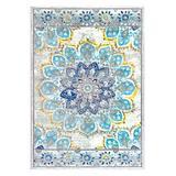 nuLOOM Indoor Rugs Blue - Blue Distressed Floral Kiyoko Rug
