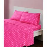 Main Street Sheet Sets Dark - Dark Pink Polka Dot Cotton Sheet Set