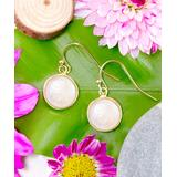 Katherine Winters Women's Earrings White - Mother-Of-Pearl & 14k Gold-Plated Sterling Silver Round Drop Earrings