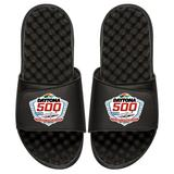 """Men's ISlide Black NASCAR 2019 Daytona 500 Color Logo Slide Sandals"""