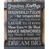 Stamp Out Online Chalkboards Black - 'Household Rules' Personalized Chalkboard Sign