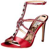 Badgley Mischka Women's Faye Heeled Sandal, African red, 5 M US