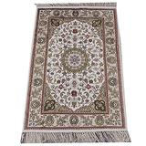Yilong Carpet 2'x3' Hand Knotted Isfahan Persian Silk Rug Classic Floral Medallion Hand Woven Carpet YHW92
