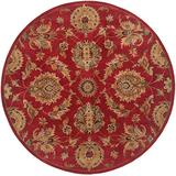 Continental Rug Company Serene Rug, 4' Round, Red