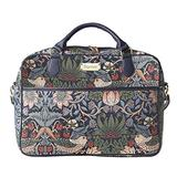 Signare Tapestry Laptop Bag 15.6 Computer Messenger Bag Briefcase for Women with William Morris Strawberry Thief Blue (CPU-STBL)
