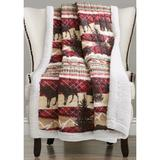 Lush Decor Red Holiday Lodge Red/Brown Sherpa Throw