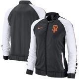 Women's Nike Black San Francisco Giants Varsity Full-Zip Jacket
