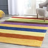 Ebern Designs Hossain Handwoven Flatweave Wool Beige/Blue/Green Area RugWool in Blue/Brown/Green, Size 72.0 H x 48.0 W x 0.63 D in | Wayfair
