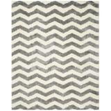 Ebern Designs Amhold Gray/Beige Area Rug Polyester/Polypropylene in Brown, Size 120.0 H x 96.0 W x 2.0 D in   Wayfair